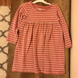 Old Navy Mauve And White Stripe Dress 18 - 24 Mo